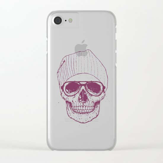 Cool skull Clear iPhone Case