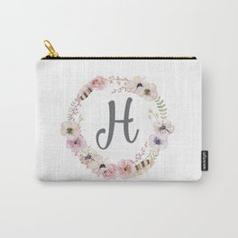 Floral Wreath - H Carry-All Pouch