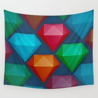 diamonds Wall Tapestries featuring Diamonds by Andrew Leif Hanssen