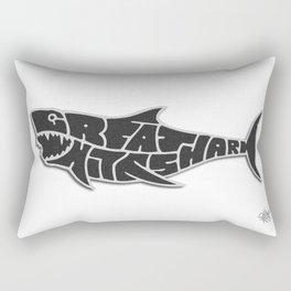 Great White Shark Calypso Reef Rectangular Pillow