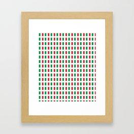 flag of Italia- Italy,Italia,Italian,Latine,Roma,venezia,venice,mediterreanean,Genoa,firenze Framed Art Print