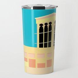 Wind-towers of Bastakiya by Dubai Doodles 009 Travel Mug