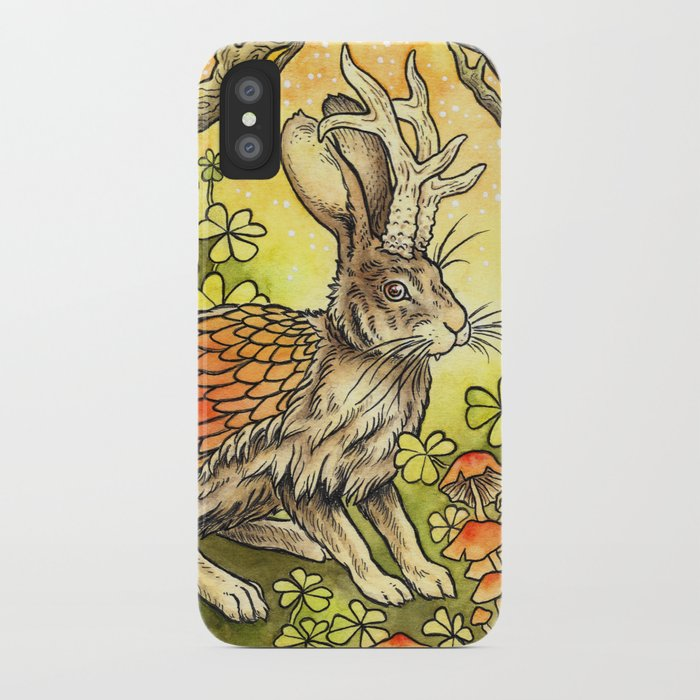 Winged Jackalope in Summer Plumage iPhone Case