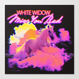 White Widow: Miss You Bad (Single Artwork) Canvas Print