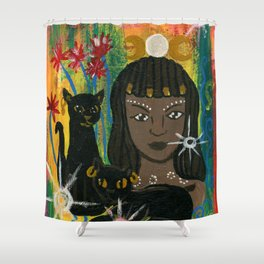 Cat Goddess Bast Shower Curtain