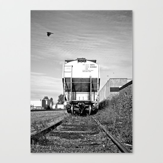 Urban train car Canvas Print