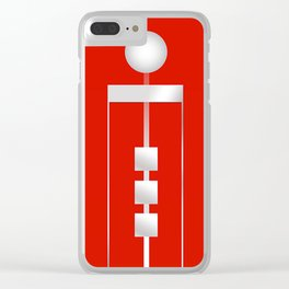 Red 11 Clear iPhone Case