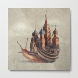The Snail's Daydream Metal Print