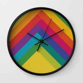 Bright Summer Lines Wall Clock