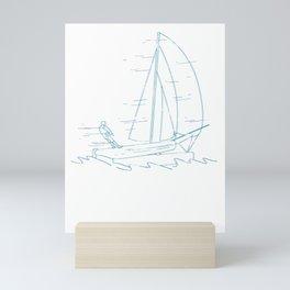 Sailing Through The Windy Ocean Mini Art Print
