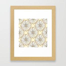 Cream Daisy Petals  Framed Art Print