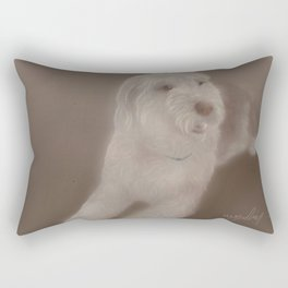 Bearded collie Rectangular Pillow