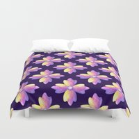 medieval Duvet Covers featuring Medieval flowers by Margarita Sadkova