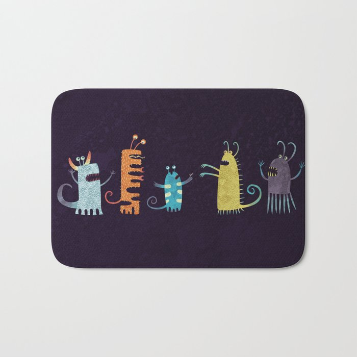 Secretly Vegetarian Monsters Bath Mat