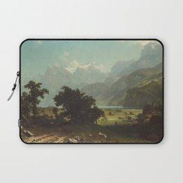 Lake Lucerne by Albert Bierstadt Laptop Sleeve