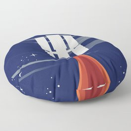 Hubble,Gateway to the Universe Floor Pillow