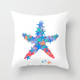 Starfish Coral Throw Pillow