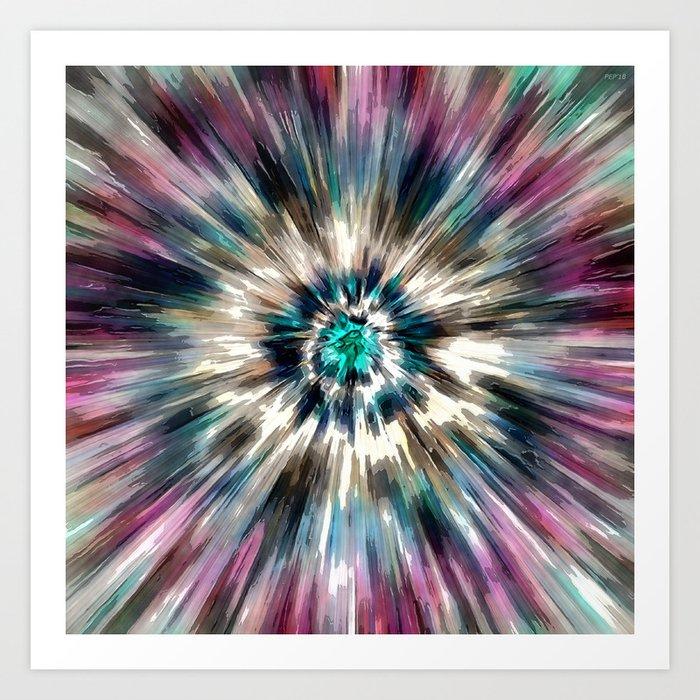 Starburst Tie Dye Kunstdrucke