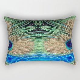 Peacock Star Rectangular Pillow