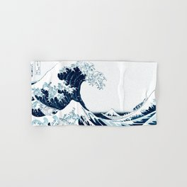 The Great Wave - Halftone Hand & Bath Towel