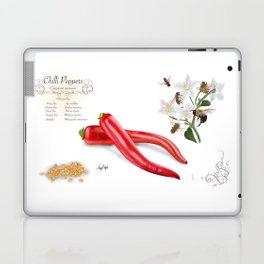 Chilli Peppers and Pollinators Laptop & iPad Skin