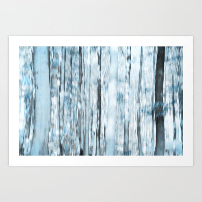 trees bleu Art Print