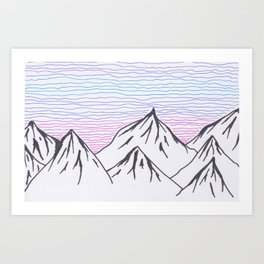 Mountain Lines Art Print