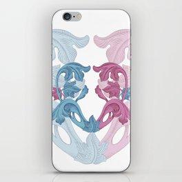 Heart pink & Azur iPhone Skin