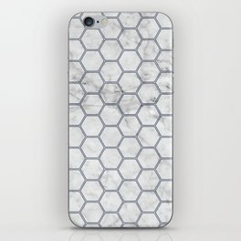 Honeycomb Marble Navy #871 iPhone Skin