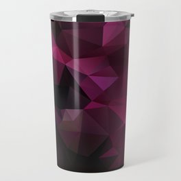 Abstract background of triangles polygon design bright colors Travel Mug