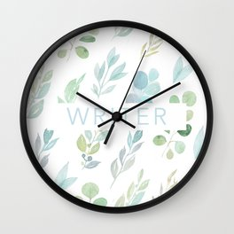 writer floral Wall Clock