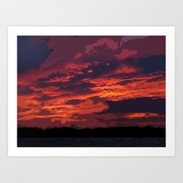 Cozumel Sunset Art Print