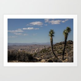 Two Joshua Tree Art Print