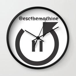 @escthemachine Wall Clock