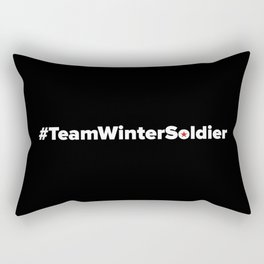 #TeamWinterSoldier Hashtag Team Winter Soldier Rectangular Pillow