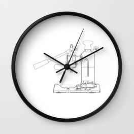 La Pavoni Lever Espresso Machine Wall Clock