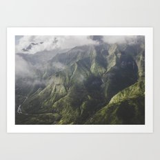 Mountains - Kauai, HI Art Print