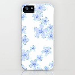 Lily (Blue) iPhone Case