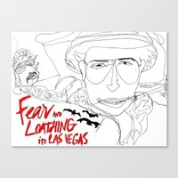 fear and loathing Canvas Prints featuring Fear&Loathing by TheFrizzKid