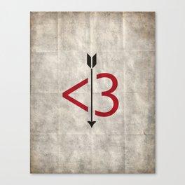 A Typo Love Canvas Print