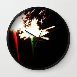 Sparklers Wall Clock