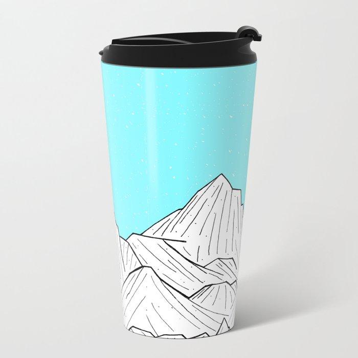Glacier Mounts Metal Travel Mug