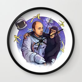 Karl Pilkington - An Idiot In Space Wall Clock