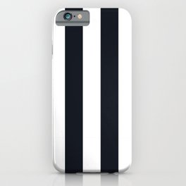 Vertical Stripes Black & White iPhone Case