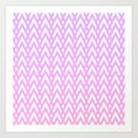 Chevrons & Diamonds, Lilac and Pink by lyle58