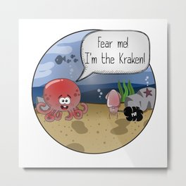 Little Kraken Metal Print