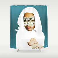 cigarettes Shower Curtains featuring Das Laster by Marko Köppe