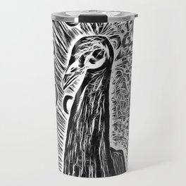 The Peacock In Heavy Metal Pop Art Travel Mug