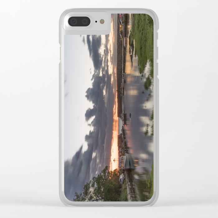 Summer Lanescove sunset Clear iPhone Case