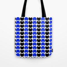 HobNob BlueBlack Print, Canvas and Laptop/iPad Skin Tote Bag